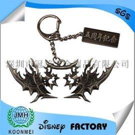 天龙八部动漫钥匙扣武器兵器钥匙扣3D 钥匙挂件定制