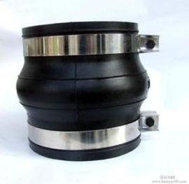 隆盛卡箍式橡胶接头,可曲挠橡胶接头,柔性橡胶接头