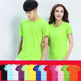定做女士户外跑步速干T恤男式春夏季圆领短袖运动T恤衫可定制LOGO