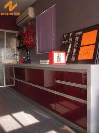 上海伟询酒红色3D纹理德国技术3D亚克力橱柜面板W-9056