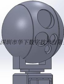 红外热成像多光谱激光测距自动跟踪不锈钢光电转台监控云台摄像机