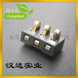 电池座3P1 弹片立式: 电源插座, 充电插座