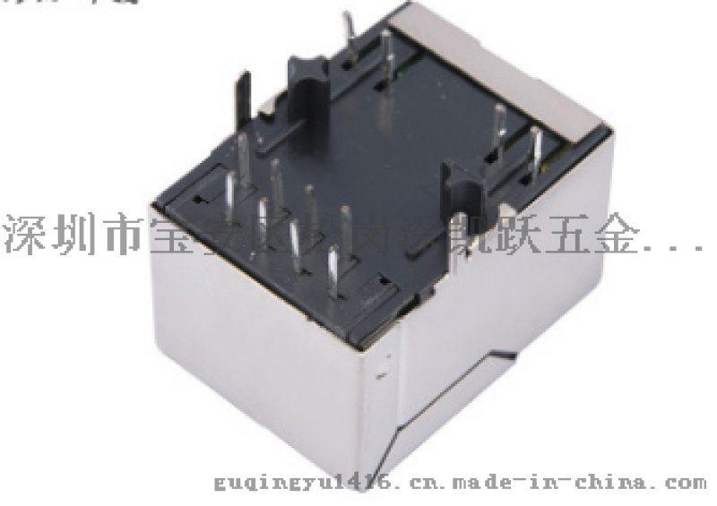 网口RJ45单口带滤波器8P8C兼容汉仁1X1