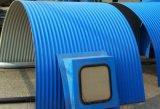 江蘇彩鋼防雨罩、彩鋼弧形瓦、輸送機防雨罩廠家直銷