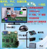 教你用單片機驅動大觸摸液晶顯示屏, 單片機驅動電視機的方法, 單片機使用電視機顯示界面方法, 單片機在電視機上顯示需要的資料和畫面的方法
