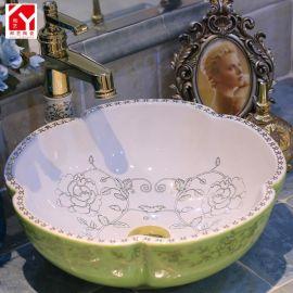 洗脸盆 瓷器陶瓷立柱盆 台盆批发 加工定制洗脸盆