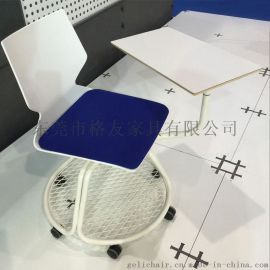 塑料培训椅 带转盘和写字板会议椅 新闻椅厂家
