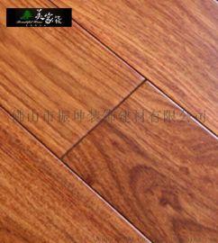 美家 純實木亞花梨實木地板 家用地暖地熱鎖釦原木地板