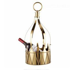 高檔歐式不鏽鋼冰桶金色皇冠大冰桶香檳桶酒桶KTV金耳銀耳擺件