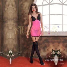 情趣丝袜新款性感蕾丝花边文胸情趣连身衣袜吊带衣