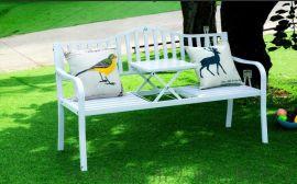欧式铁艺沙发椅双人椅子公园长椅阳台庭院休闲椅