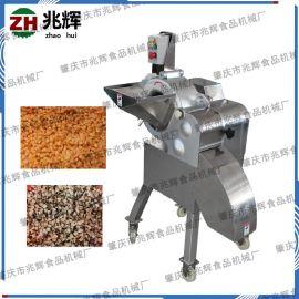 蔬菜瓜果快速切丁设备 台湾进口大型不锈钢切方块粒机 高速蔬果切丁机