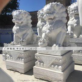 天然汉白玉石狮子厂家供应销售