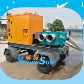 防汛移动转子泵机组 柴油机转子泵站