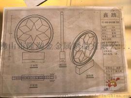 不锈钢企业LOGO圆环、深咖色艺术标志圆环见证效果