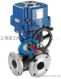 Q944/45电动三通球阀 上海渠工