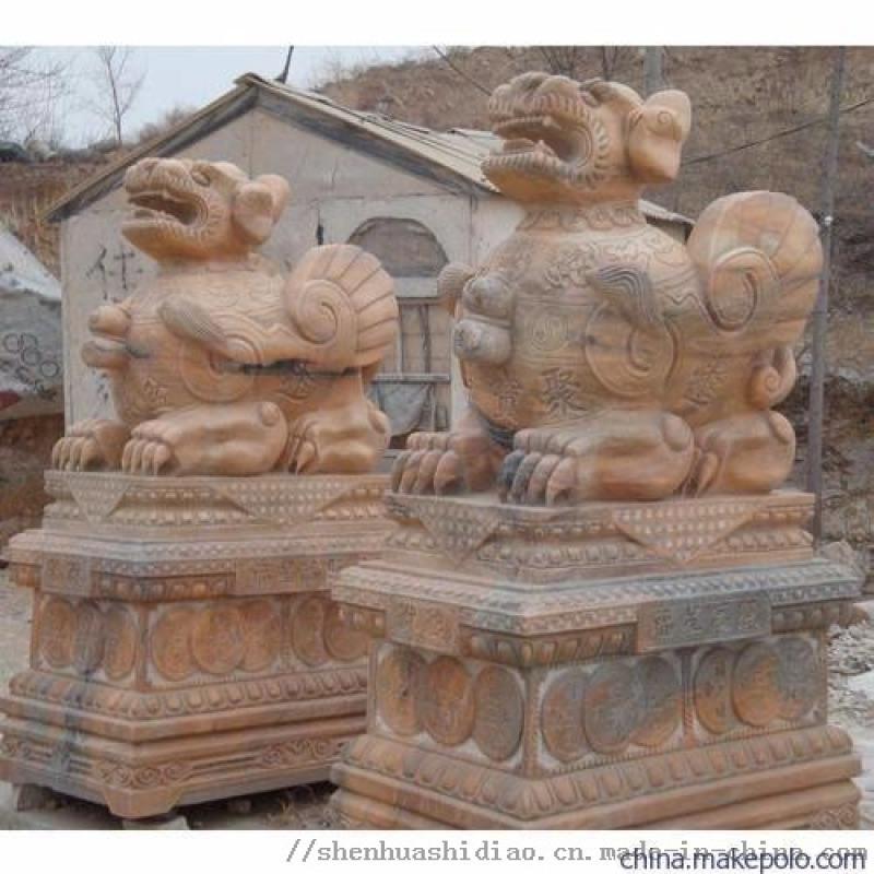 招财貔貅、雕刻貔貅、神画石雕