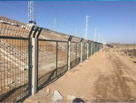 高铁金属防护栅栏--高铁防护栅栏-铁路刀刺护栏网