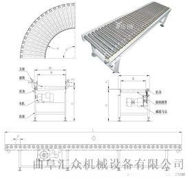 箱包生产厂家用动力滚筒输送机生产 水平输送滚筒线