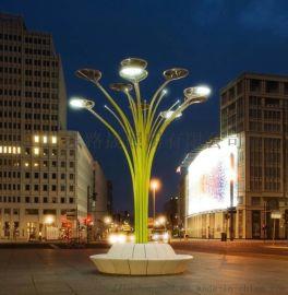 6米太陽能廣場燈荷葉燈景觀燈荷花燈戶外景觀燈
