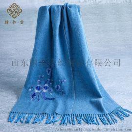 羊毛羊绒围巾来图来样定制加工