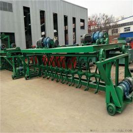 **跨度深槽发酵翻抛机 发酵床翻耙机有机肥设备 粪污发酵设备自动翻耙机