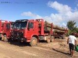 出口柬埔寨(豪沃森林全驱6×6原木运输车)报价图片