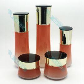 高档化妆品玻璃瓶 化妆品包装瓶  蒙砂玻璃瓶