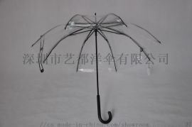 PVC POE透明直杆伞生产厂家