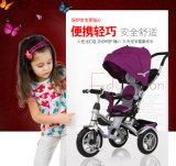 嬰幼兒童三輪手推車高景觀可360度旋轉高靠背加大充氣輪帶蓬