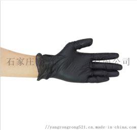 黑色手套黑色pvc手套一次性手套家用染髮手套