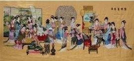 琴棋书画十字绣成品(YH1005)