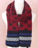 吉祥家wM018批發毛線針織圍巾秋冬加厚 五角星保暖圍巾