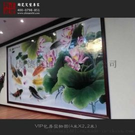 大型室内墙壁装饰瓷板画 大师纯手工瓷板画生产定做