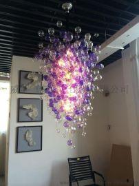 玻璃大型雕塑 玻璃工藝品吹制玻璃燈飾