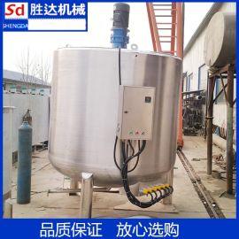 潮州供应不锈钢密封反应釜 蒸汽加热搅拌罐 日化生产混合罐