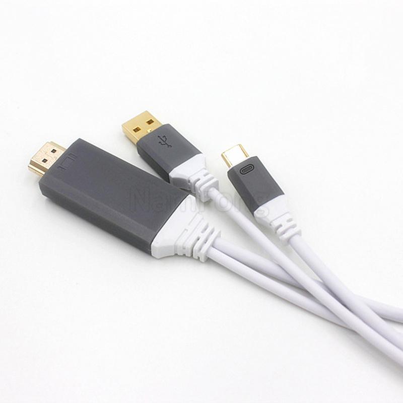 进口芯片TYPE C转HDMI带供电 4K高清线