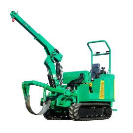 瓦力机械乘骑式履带圆弧刀式移树断根机