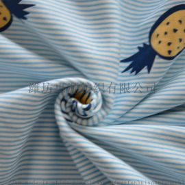 潍坊 32s有机棉印花汗布 吸湿排汗针织汗布面料
