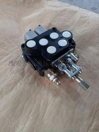 液压分配器多路阀双向手动 一控二XZT-L12E-2OT-1-0农机配件