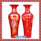 1.8米紅釉大花瓶圖片-批發定做酒店大堂擺件花瓶-景德鎮婚慶禮品大花瓶價格