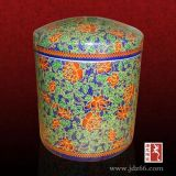 祖墳遷移用的龍鳳呈祥陶瓷骨灰盒