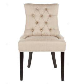 美式布藝實木餐椅靠背拉扣椅辦公椅休閒咖啡廳椅酒店椅電腦書桌椅