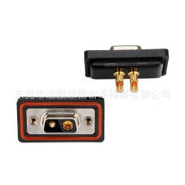 D型连接器,D-SUB连接器,2V2母大电流防水焊线连接器,