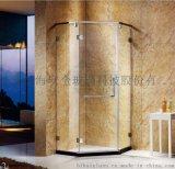 碧海定制淋浴房一字形屏風隔斷簡易鋼化玻璃移門式廠家直銷