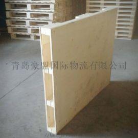 青岛厂家定制免熏蒸木质托盘型式多样四面进叉大量供应
