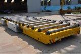 钢板卷圆机对接轨道车加装辊轮方便板材传输
