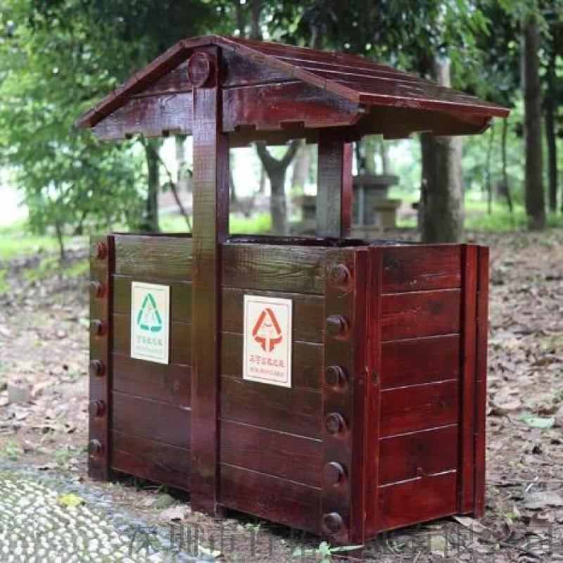 公园景区垃圾桶小区花园绿化路边草坪垃圾桶