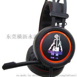 供应台盾耳机V6新款 吃鸡耳机 游戏耳机 发光耳机