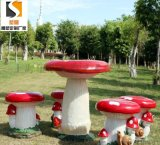 定制 蘑菇造型雕塑彩绘雕塑坐凳景观摆件雕塑